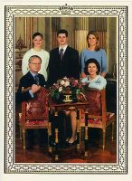 (578) The Royal Family (double greeting card 19,5 x 14 cm when folded)