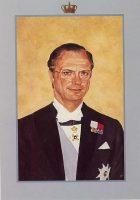 (581) King Carl Gustaf (21 x 15 cm)