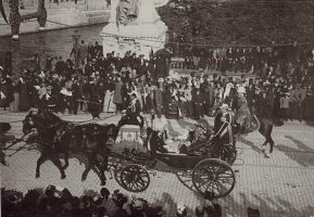 (587) King Oscar II's anniversary, 1897 (modern large card 21 x 15 cm)