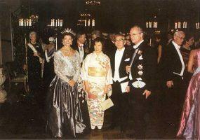 (606) Silvia & Carl Gustaf, Nobel Banquet, 2000 (21 x 15 cm)