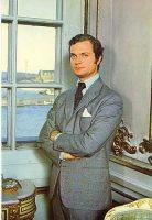 (611) King Carl Gustaf, 1970's (21 x 15 cm)