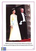 (629) Silvia & Carl Gustaf (18,5 x 13 cm)