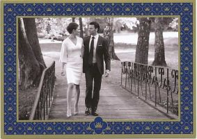 (699) Victoria & Daniel (official card on occasion of the wedding)
