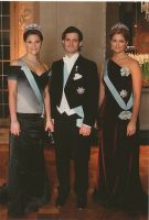 (712) Crown Princess Victoria & siblings (17 x 12 cm)