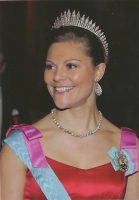 (739) Crown Princess Victoria (large card 16,5 x 11,5 cm)