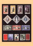 (3) Modern postcard showing royal stamps of Monaco