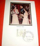 (41) Silk maxicard Baudouin, Fabiola & Elizabeth of England