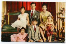 (37) Sirikit & Bumibol with children