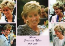 (1852) Memonial card Princess Diana (17 x 12 cm)