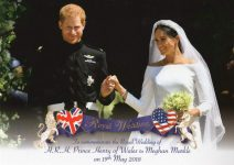 (1870) Wedding Harry & Meghan, 19.05.18 (large card 17 x 12 cm)