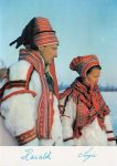 (466) Sonja and Harald wearing Sami costumes, 1969 (21 x 15 cm)