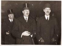 (11) King Haakon of Norway and the Duke of Gloucester, 1935 (press photo Sport & General/Reportagebild, 19 x 14 cm)