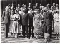 (62) Elizabeth & Philip and the Norwegian Royal family, state visit, 1955 (press photo Norsk Telegrambyrå, 17,5 x 13 cm)