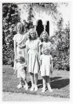 (44) Prince Carl Gustaf and his sisters, 1948 (Nilsson-Foto, 12,5 x 9 cm)