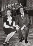 (55) Engagement Princess Christina & Tord Magnuson, 1974 (press foto Reportagebild, 18 x 13 cm)