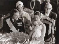 (72) Christening Princess Victoria, 1977 (press photo Reportagebild, 17,5 x 13 cm)