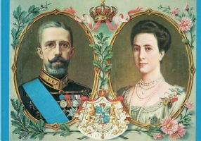 (1193) King Gustaf V and Queen Victoria, c. 1910's (modern postcard issued c. 1970's)