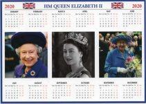 (1935) HM QUEEN ELIZABETH II - calendar 2020 (17 x 12 cm)