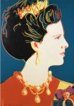 (637) Queen Margrethe (by Andy Warhol, 21 x 15 cm)