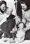 (496) Beatrix and Margriet with sons, 1969