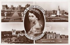 (1954) Queen Elizabeth/Royal residences