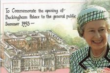 (2000) To Commemorate the opening of Buckingham Palace to the public, 1993
