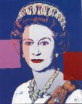 (2026) Queen Elizabeth by Andy Warhol, 1985 (double card, 10 x 8 cm when folded)