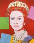 (2025) Queen Elizabeth by Andy Warhol, 1985 (double card, 10 x 8 cm when folded)