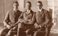 (373) Crown Prince Wilhelm with 2 oldest sons, 1920's