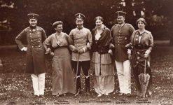 (319) August Wilhelm, Wilhelm and Eitel Friedrich with wives, 1914