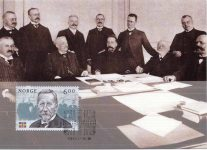 (4) Norwegian maxicard from 2005 - Negotiations with Sweden, 1905