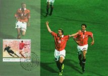(6) Norwegian maxicard from 2005 - Football match Norway - Brazil, 1998