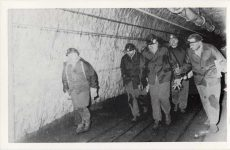 (339) King Baudouin in a mine, 1962