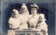 (241) Princess Josephine/Princess Charles of Hohenzollern with children
