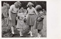 (555) Princess Beatrix and her 3 sisters, 1948