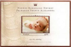 (4) Stampsheet christening Princess Ingrid Alexandra, 2004