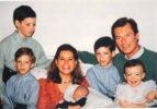 (21) Maria Teresa & Henri with 5 children (15 x 10 cm)